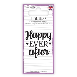 DCSTP091 Dovecraft Clear Sentiment Stamp - Happy Ever After