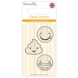 DCSTP086 Dovecraft Clear Stamp - Smiley Stamp- Laughing
