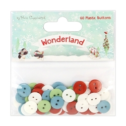 HCBTN003X17 Helz Cuppleditch Wonderland Plastic Buttons