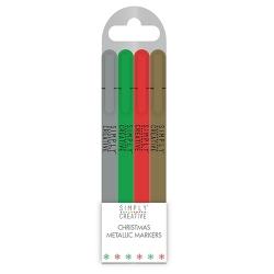 SCMRK001X17 Simply Creative Christmas Basics Metallic Markers