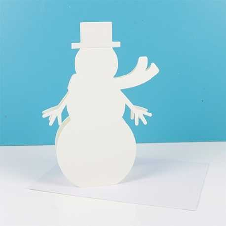 SCCAE005X17 Simply Creative Shaped Christmas Cards – Snowman