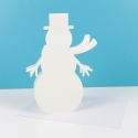 Simply Creative Shaped Christmas Cards – Snowman (SCCAE005X17)