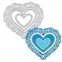 Printable Heaven dies - Fancy Nesting Hearts (3pcs)