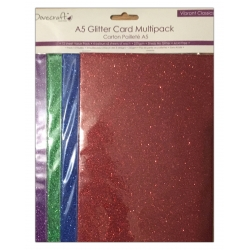 A5 Glitter Card Pack - Vibrant Classics (DCGC102)