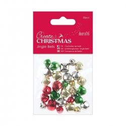 PMA 356901 Jingle Bells (30pcs) - Mixed Colours & Sizes