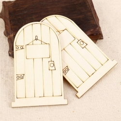 Wooden Fairy Doors, Ready-to-decorate (2pcs)