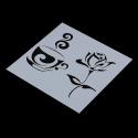 13 x 13cm Reusable Stencil - Coffee & Rose (1pc)