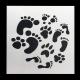 Reusable Stencil - Foot-prints (1pc)