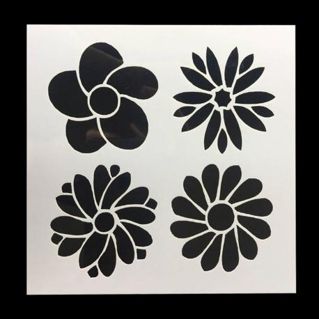 Reusable Stencil - 4 Flowers (1pc)