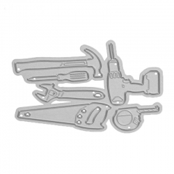 Printable Heaven die - Tools & Drill set (6pcs)