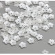 Delicate Pearl Flowers - White (100pcs)
