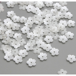 Mini Pearl Flowers - White (100pcs)