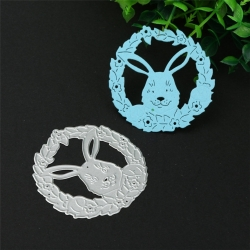 Printable Heaven die - Rabbit Wreath (1pc)