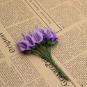 Foam Calla Lilies - Purple (Bunch of 12)