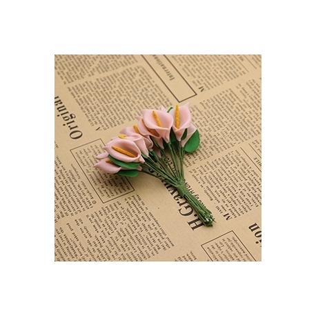 Foam Calla Lilies - Pink (Bunch of 12)