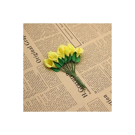 Foam Calla Lilies - Yellow (Bunch of 12)