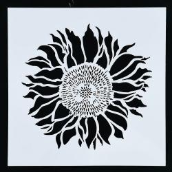 13 x 13cm Reusable Stencil - Sunflower (1pc)