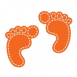 Printable Heaven dies - Baby Feet (2pcs)