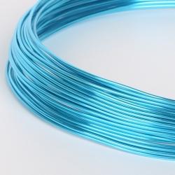 18 Gauge (1mm) Aluminium Wire - Turquoise (10m)