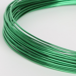 18 Gauge (1mm) Aluminium Wire - Green (10m)