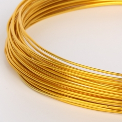 18 Gauge (1mm) Aluminium Wire - Gold (10m)