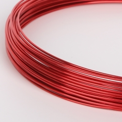 18 Gauge (1mm) Aluminium Wire - Red (10m)