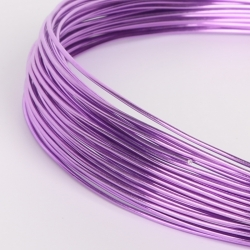 18 Gauge (1mm) Aluminium Wire - Purple (10m)