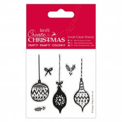 PMA 907255 Small Clear Stamps - Baubles