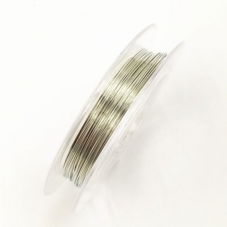 Coloured 0.3mm Beading Wire - Silver (10m)