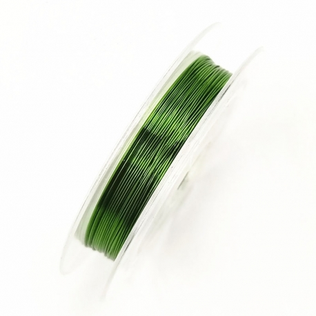 Coloured 0.3mm Beading Wire - Green (10m)