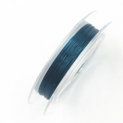 Coloured 0.3mm Beading Wire - Teal (10m)