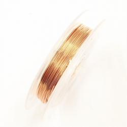 Coloured 0.3mm Beading Wire - Copper (10m)