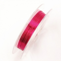 Coloured 0.3mm Beading Wire - Cerise (10m)