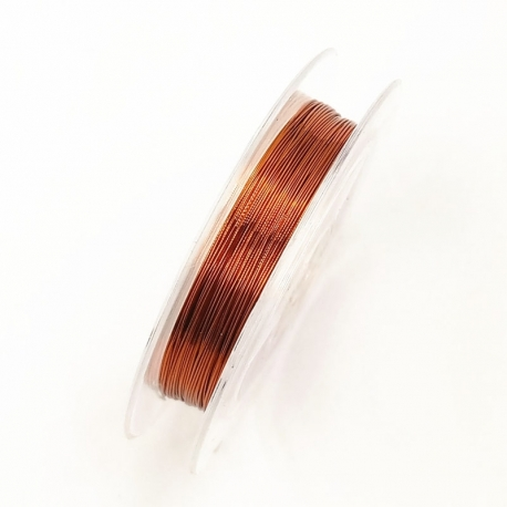 Coloured 0.3mm Beading Wire - Bronze (10m)