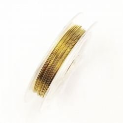 Coloured 0.3mm Beading Wire - Gold (10m)
