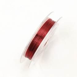 Coloured 0.3mm Beading Wire - Red (10m)
