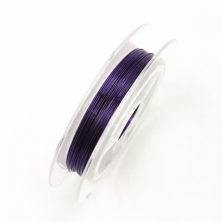 Coloured 0.3mm Beading Wire - Purple (10m)