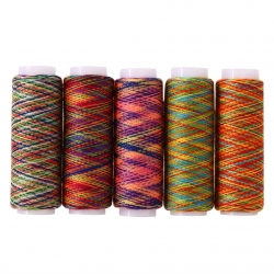 Multi-coloured threads (5 reels)