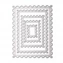 Printable Heaven dies - Nesting Postage Stamps (5pcs)