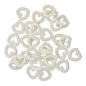Pearl Hearts - Ivory (100 pack)