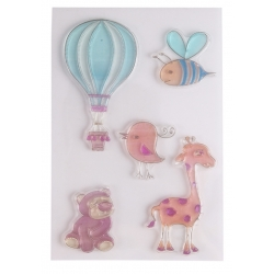 Clear stamp set - Cute Animals & Balloon (5pcs)