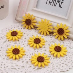 Felt Sunflowers (10pcs)