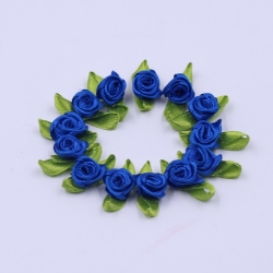 Ribbon Roses - Royal Blue (50pcs)