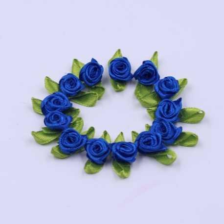 Ribbon Roses - Royal Blue (50pcs)
