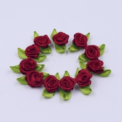 Ribbon Roses - Burgundy (50pcs)