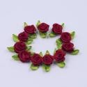 Ribbon Roses - Burgundy (50pcs)