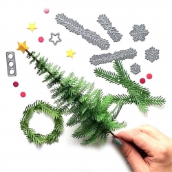Printable Heaven die - DIY Christmas Tree (8pcs)