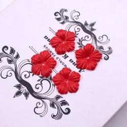 Silk 2.5cm Flower-heads - Red (100pcs)