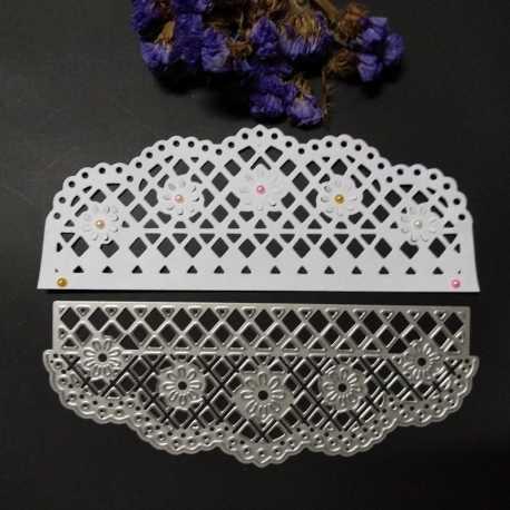 Printable Heaven die - Fancy Edger, Lattice Flowers (1pc)