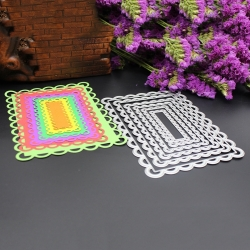 Printable Heaven dies - Fancy Nesting Rectangles (6pcs)